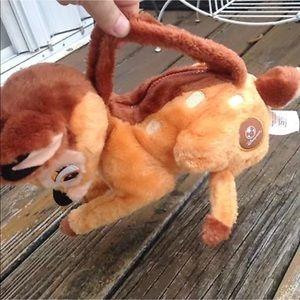 Disney Store Bambi Purse Deer Plush Bag Handbag